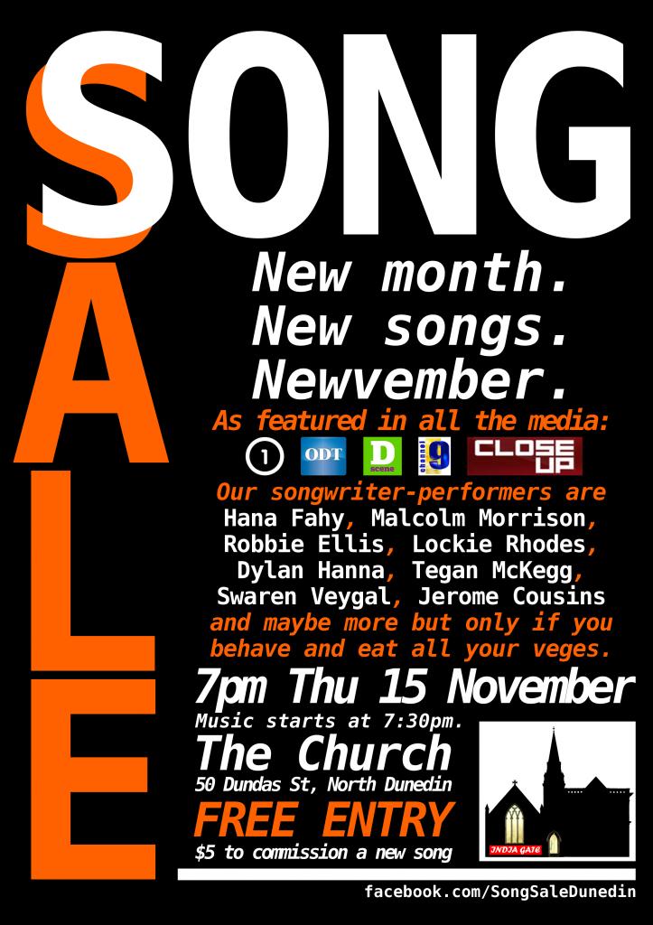Song Sale November 2012 poster