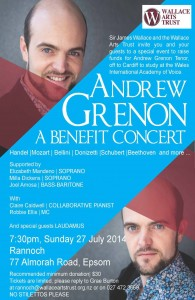 Andrew Grenon benefit poster